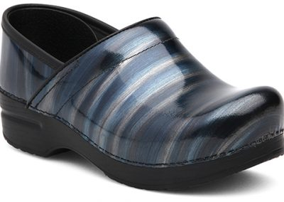 Silver/Blue Stripe Patent Leather
