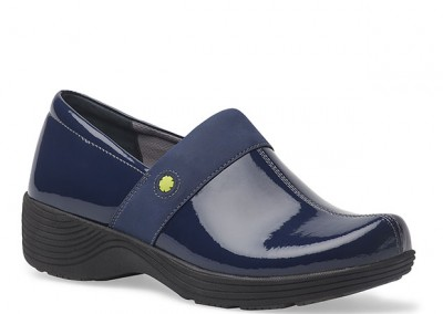 Work Wonders Camellia Navy Patent Leather