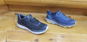 Hoka One One Left Akasa for $140 Right challenger All terrain for $130