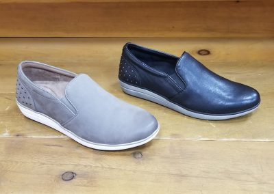 Josie in warm grey and black for $120