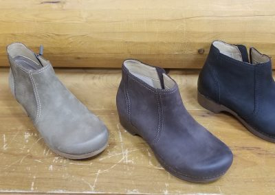 Barbara in taupe, chocolate and burnished nubuck for $170