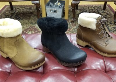 Bettie in honey and black nubuck for $190 and the Bailee (lace up) in $185