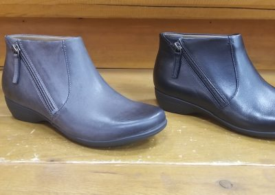 Fifi in Grey burnished and Black milled leather for $165.