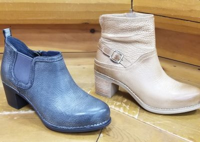 Harlene in charcoal for $170 and Hayley in Tan Distressed for $185