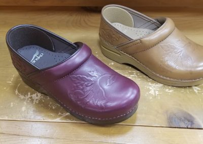 Professional embossed in wine and tan burnished calf for $135